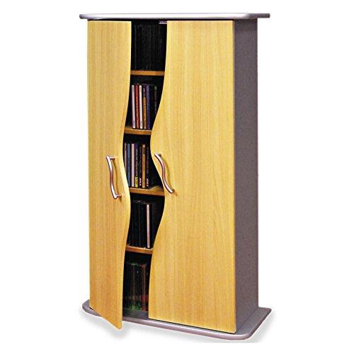 CD-DVD-Regal-WAVE-in-buche-mit-Tren-und-4-Einlegebden