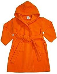 Pegasus - Baby Girls Hooded Fleece Robe, Orange 32886-18-24Months