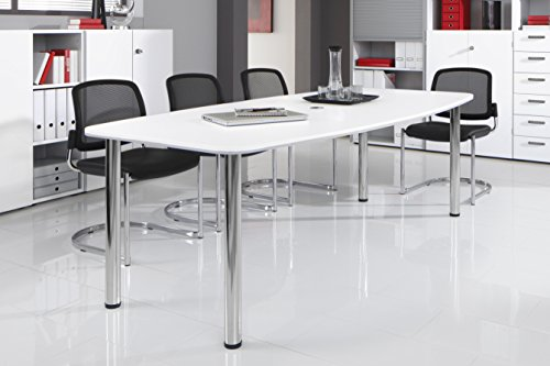 Bm-Konferenztisch-rund-oval-Besprechungstisch-mit-Chromfu-hochwertiger-Meetingtisch-in-2-Gren-und-6-Farben-Wei-220-x-103-cm