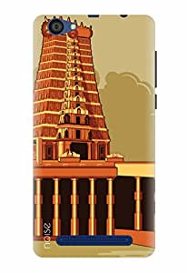 Noise Designer Printed Case / Cover for Lyf Flame 1 / Nature / Meenakshi Temple