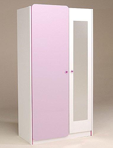 Kleiderschrank Drehtürenschrank 104x199x55cm 2-türig weiss lila Kinderzimmer Janine 4 günstig kaufen