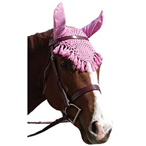 Intrepid International Fancy Ear Nets for Horses, Pink
