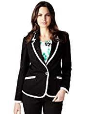 Per Una 1 Button Tipped Ponte Blazer