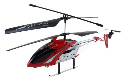 3.5ch Hawkspy LT-711 RC Helicopter with Gyro and Spycam - Red