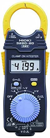Hioki HiTester 3280-20 True RMS Clamp-Meter, 2,000A AC, Conductors to 33mm, Voltage and Resistance Measurement
