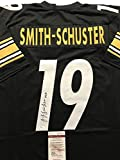 Autographed/Signed JuJu Smith-Schuster Pittsburgh Steelers Black Jersey JSA COA