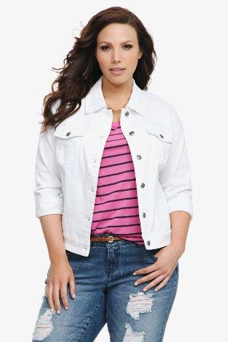 f4efa022fa0 shop    plus size jackets  Torrid Plus Size Torrid Denim - White ...