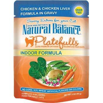 Image of Natural Balance Platefulls Chicken & Chicken Liver Indoor Adult Cat Food