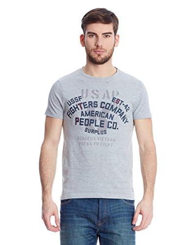 American People Camiseta Manga Corta Fighter Blanco
