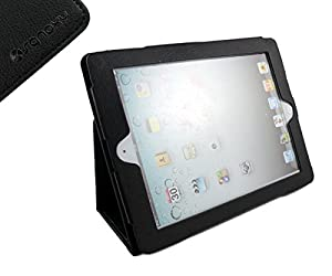 SANOXY IPAD 2/3/4 Vegan PU Leather Case With Stand for Apple IPAD 2/3/4 (Black)