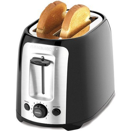Black & Decker 2-Slice Toaster | Self-Adjusting Guides Centers Bread for Even Toasting Results (Black And Decker Oven Tray Part compare prices)
