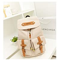 Korea Vintage Canvas Backpack Girl Women Shoulder School Satchel Bag Rucksack from Generic