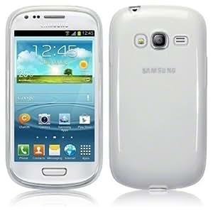 Coque Gel transparent Blanc Samsung Galaxy Core 4G LTE SM-G386F + Stylet + 3 Films OFFERTS