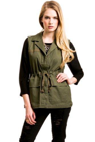 DrawstrIng Army Vest In Olive