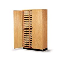 "Hot Sale Diversified Woodcrafts 350-4822 Oak Wood Tote Tray Storage Cabinet, 48"" Width x 84"" Height x 22"" Depth"