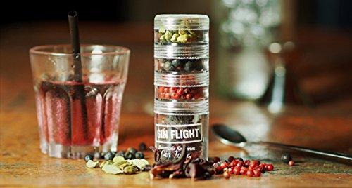 GIN FLIGHT - Gin Tonic Gewürze - Rosa Pfeffer, Kardamom, Hibiskus, Wacholder - 4 Botanicals für perfekten Gin Tonic Genuss