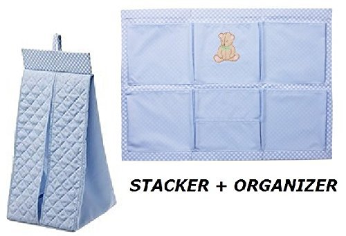 Ikea Diaper Stacker Nursery Organizer Baby Changing Nanig (2 Piece) Blue - 1