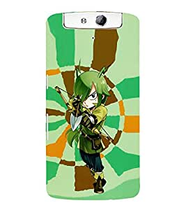 Vizagbeats Girl in Fairy Tail Back Case Cover for Oppo N1