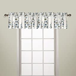 United Curtain Chelsea Straight Valance, 54 by 18-Inch, Blue