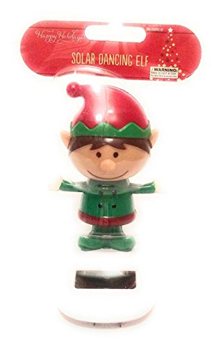 New Happy Holidays Solar Powered Dancing Elf In Green Color Christmas Cloth. (Solar Powered Dancing Groot compare prices)