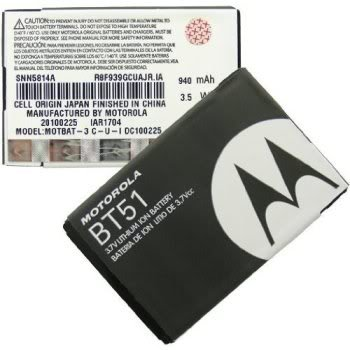 Motorola K1m W220 W385 Z6m Z6tv BT51 Battery