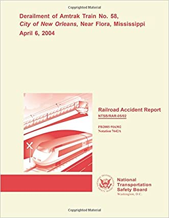 Railroad Accident Report: Derailment of Amtrak Train No. 58, City of New Orleans, Near Flora, Mississippi April 6, 2004 (Railroad Accident Reports)