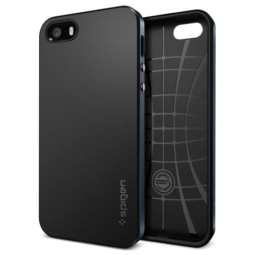 国内正規品 (二重構造) Spigen iPhone 5s / 5 ケース ネオ・ハイブリッド [メタル・スレート] SGP10360