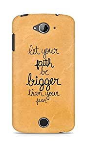 AMEZ let your faith be bigger than your fear Back Cover For Acer Liquid Z530