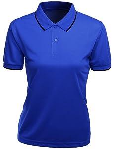 Xpril Women's Functional Coolmax Collar Short Sleeve T-Shirt