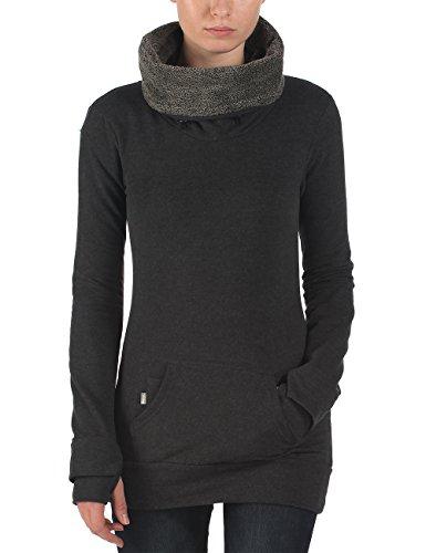Bench - Sweatshirt OATED, Felpa Donna, Grigio (Anthracite Marl), Small (Taglia Produttore: Small)