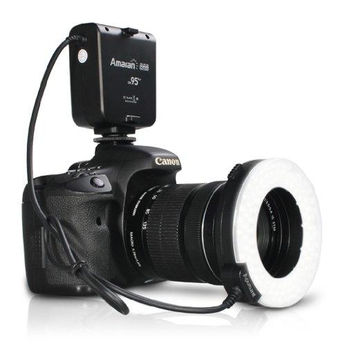 Ringblitz Ring Licht Blitz Blitzgerät für Canon EOS D3000 D3100 D5000 D5100 D7000 D700 450D 500D 550D 1100D 1000D 7D 3DX 5D400D 350D 600D 60Da 5D 8D 10D 20D 30D 40D 50D DSLR Kamera