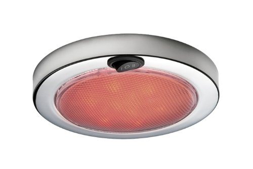 Aqua Signal 5 1/2-Inch 12-Volt LED Dome Light with Switch for Red\Warm White Light