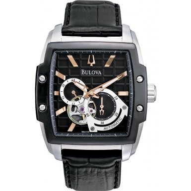 Bulova 98A118 Mens Mechanical Black Watch