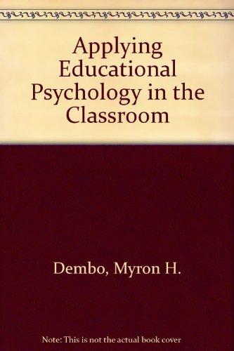 Applying Educational Pcychology