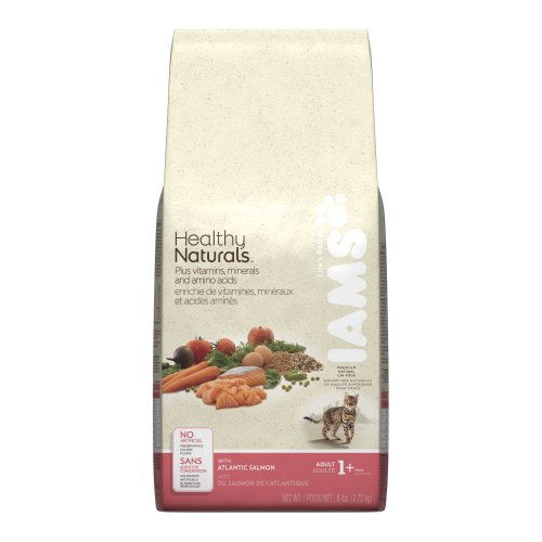 See Iams Healthy Naturals Adult Cat with Atlantic Salmon, 6-Pound Bags