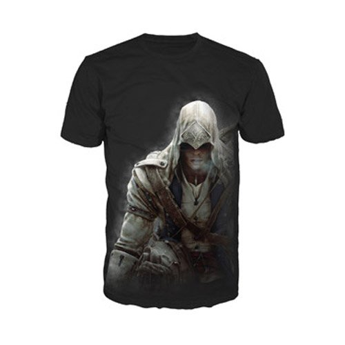 Assassin's Creed III Fading Connor Herren T-Shirt, Schwarz, Größe S