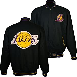 Los Angeles Lakers NBA Reversible J.H. Design Jacket (Gold) by J.H. Design