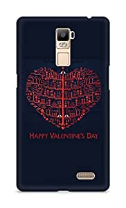 Amez designer printed 3d premium high quality back case cover for Oppo R7 Plus (Valentine day)