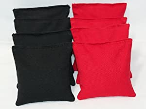 Cornhole Bags Set - (4 Black, 4 Red) By Free Donkey Sports