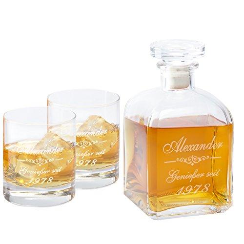 Whiskykaraffe edel mit individueller gravur for Geschenk hochzeitstag eltern