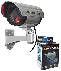 NOVICZ Black Dummy Cam Security CCTV Fake Bullet Cam Camera With LED Light Indication