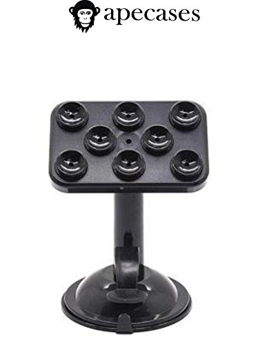ApeCases Branded 360 Degree Rotable Car Tablet Holder For Smart Mobile Phone/GPS/Pad Placing Plate (Black)