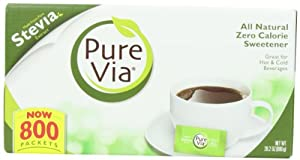 PureVia All Natural Zero Calorie Sweetener 800 Packets (28.2oz)