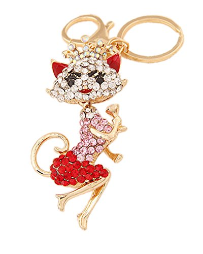 Young & Forever Republic Deal Parade Special Bling Bling Naughty Lady Cat Bag Charm Key Ring & Key Chain Red By...