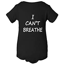 I Can't Breathe Protest Police One Piece Baby Bodysuit