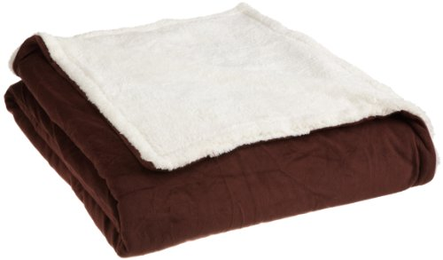 Northpoint Sapphire Twin Sherpa Blanket, Chocolate front-898940