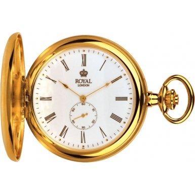 Royal London Pocket Watch 90013-02 Gold Plated Full Hunter