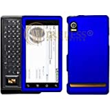 Blue Rubberized Protector Case Hard Cover for Motorola Droid A855 (Verizon Wireless)