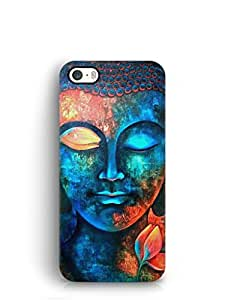 Cover Affair Buddha Printed Back Cover Case for Apple iPhone 5S