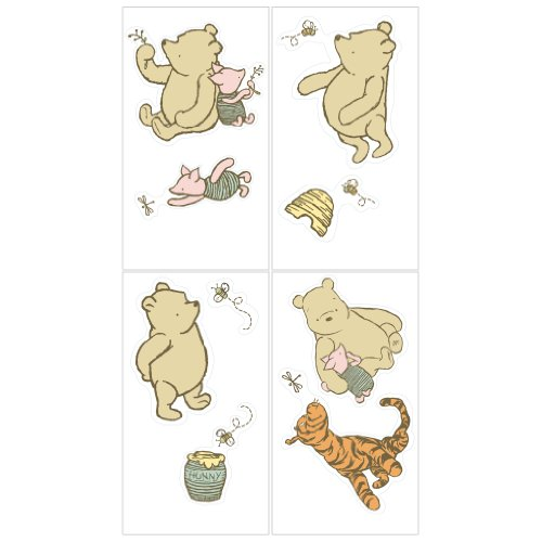 Cheapest Disney My Friend Pooh Wall Decals, Sage/Ivory sale